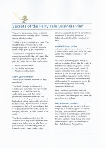 Fairy Tale Business Plan